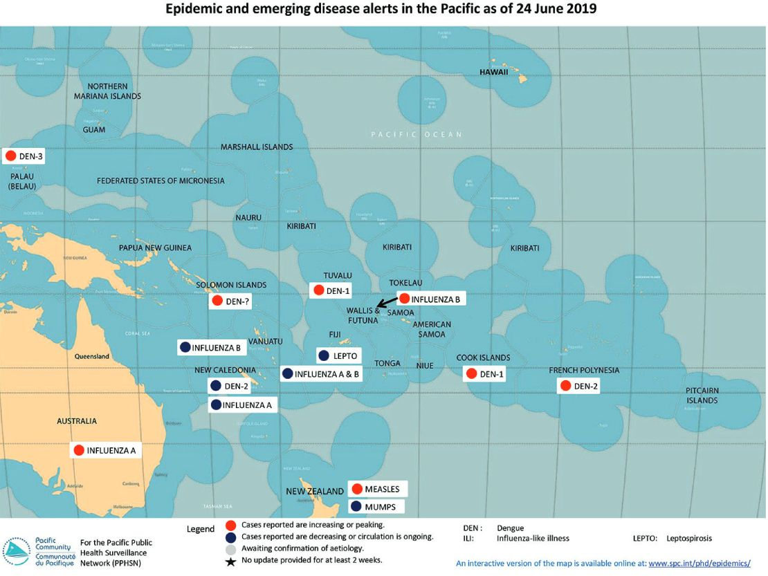 Epidemic and emerging disease alerts in the Pacific - 10 December 2018
