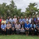 Participants from Tonga, Tokelau, Fiji and Solomon Islands, PGCFE training modules organised in Fiji in October 2018